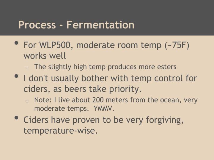 Process - Fermentation