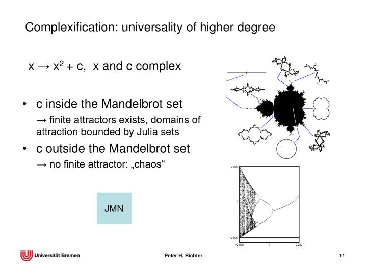 Complexification: universality of higher degree