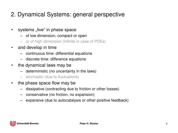 2. Dynamical Systems: general perspective