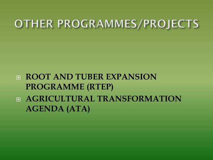 OTHER PROGRAMMES/PROJECTS