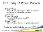 iis 6 today a proven platform