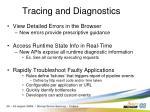 tracing and diagnostics
