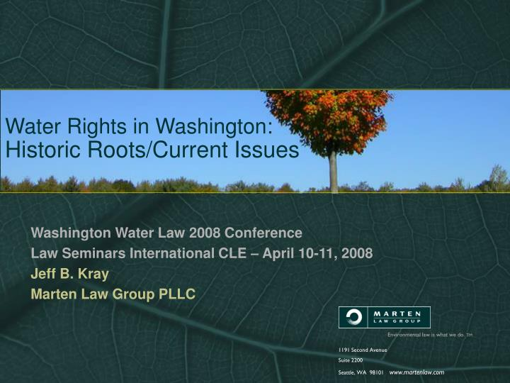 water rights in washington historic roots current issues n.