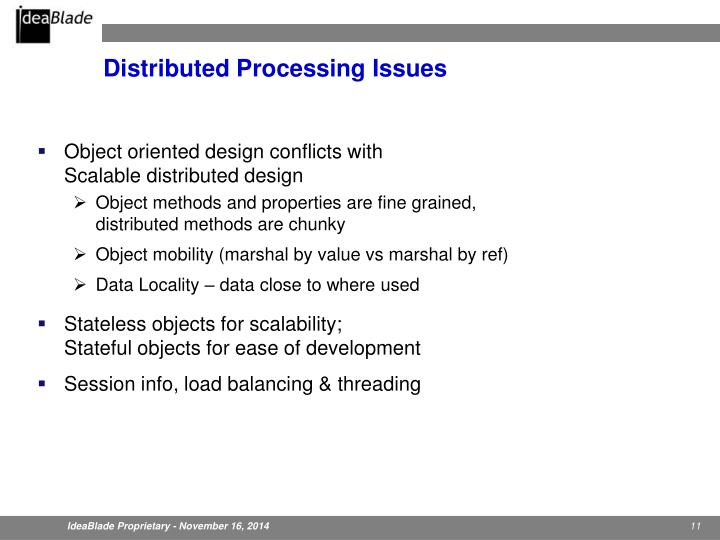 Distributed Processing Issues