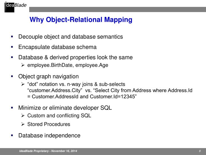 Why Object-Relational Mapping