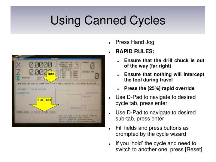 Using Canned Cycles