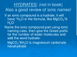 hydrates not in book also a good review of ionic names
