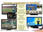 examples of application for hybridcast
