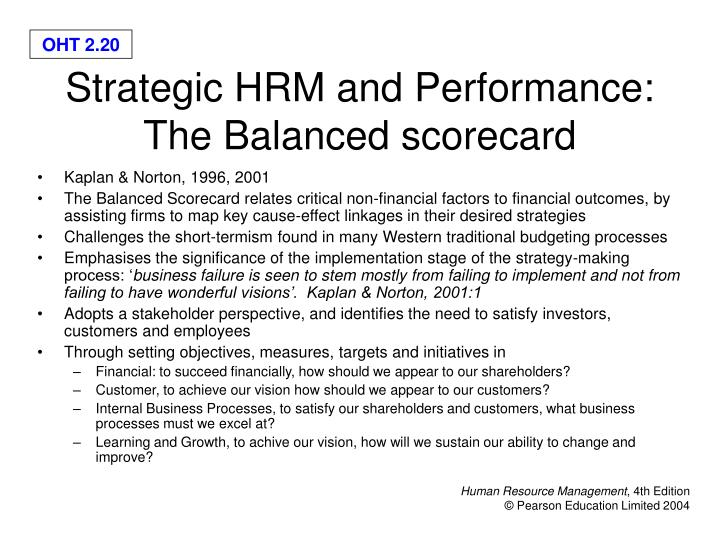 PPT - Strategic Human Resource Management: Objectives PowerPoint ...
