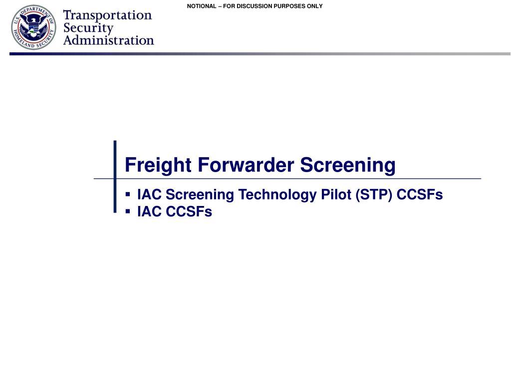 PPT - Achieving 100% Cargo Screening on Passenger Aircraft