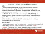 aao hnsf history in community based research