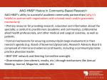 aao hnsf history in community based research1