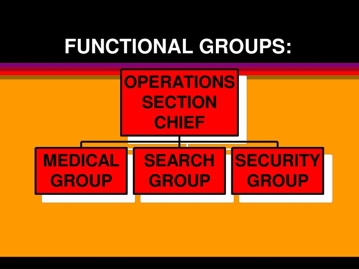 FUNCTIONAL GROUPS: