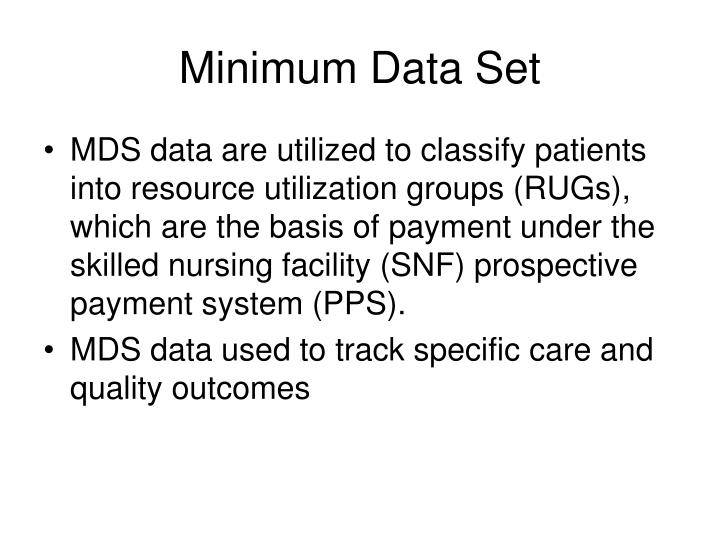 Minimum Data Set