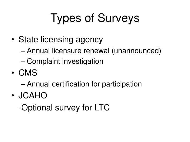 Types of Surveys