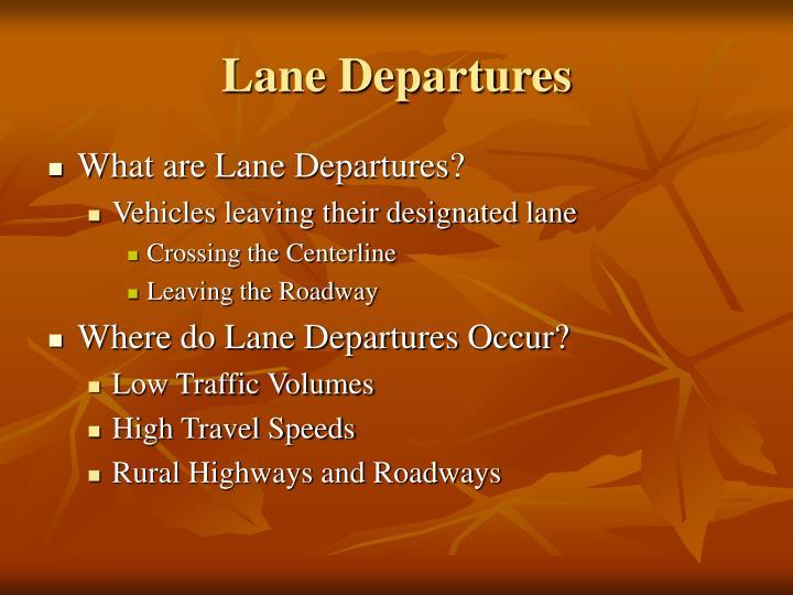 Lane departures1