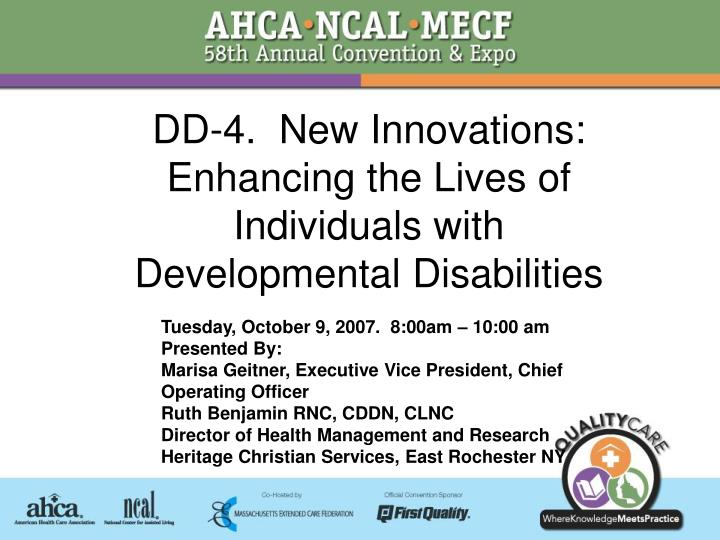 dd 4 new innovations enhancing the lives of individuals with developmental disabilities n.