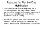 reasons for flexible day habilitation