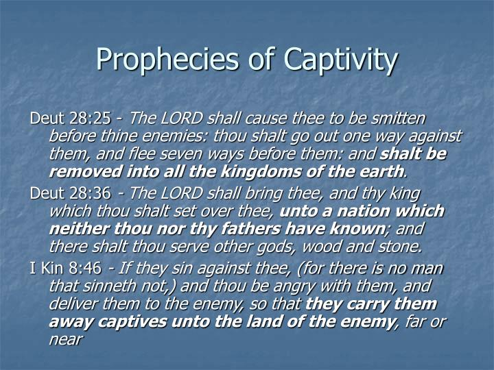 Prophecies of Captivity