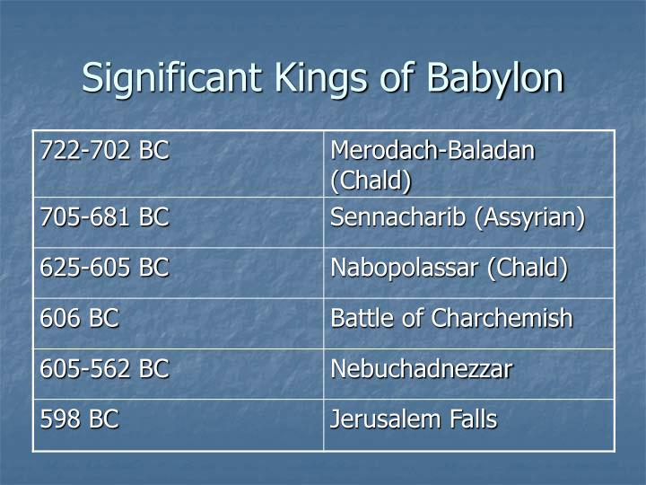 Significant Kings of Babylon