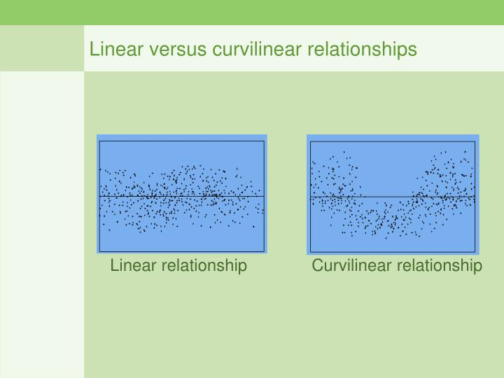 Linear versus curvilinear relationships
