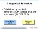 categorical exclusion1