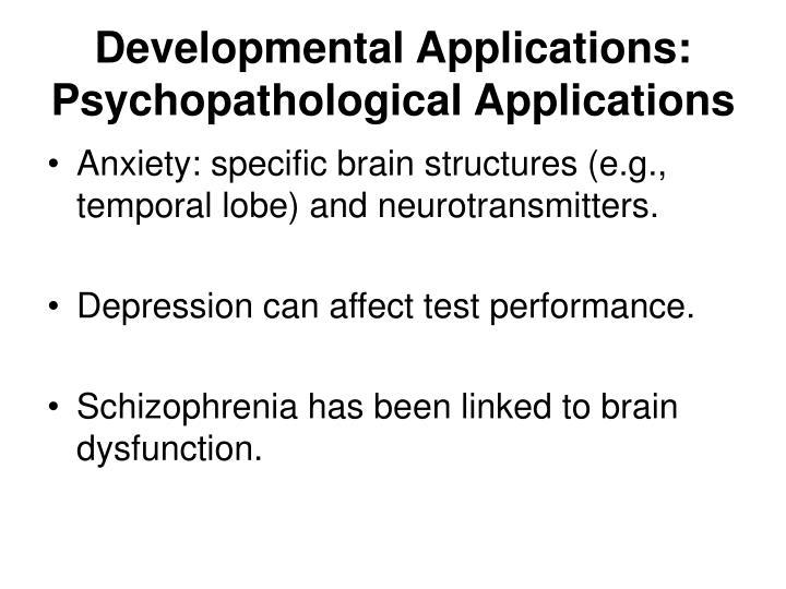Developmental Applications: