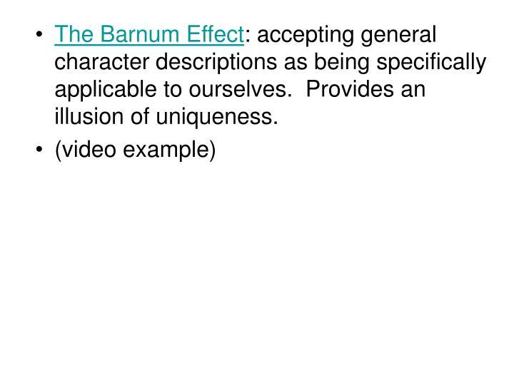 The Barnum Effect