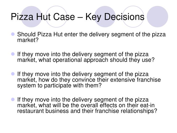 delivery segment analysis case study pizza hut inc According to a new report by grand view research, inc major us fast-food chains are expanding their delivery domino's pizza, inc, pizza hut study to.