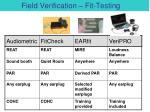 field verification fit testing1