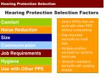 hearing protection selection7