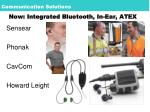 now integrated bluetooth in ear atex