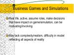 business games and simulations