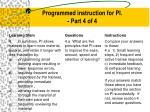 programmed instruction for pi part 4 of 4