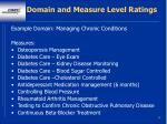 domain and measure level ratings