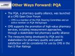 other ways forward pqa