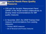 special needs plans quality measures