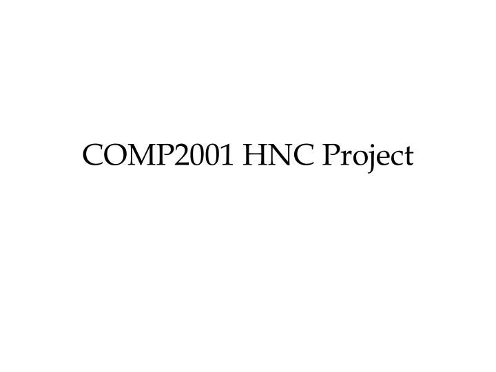 comp2001 hnc project n.