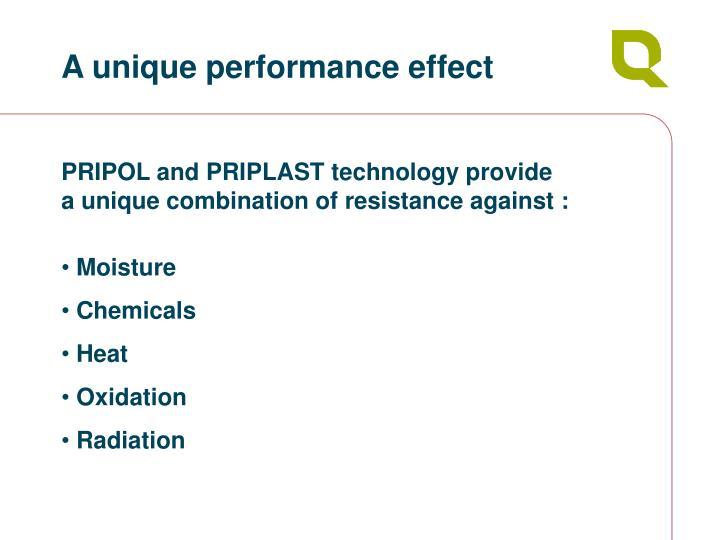 A unique performance effect