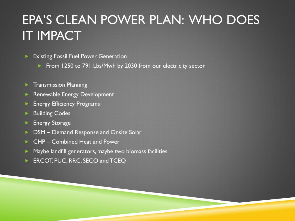 PPT - EPA's PROPOSED OZONE AND CLEAN POWER PLAN RULE: What
