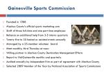 gainesville sports commission