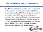 the gainesville sports commission