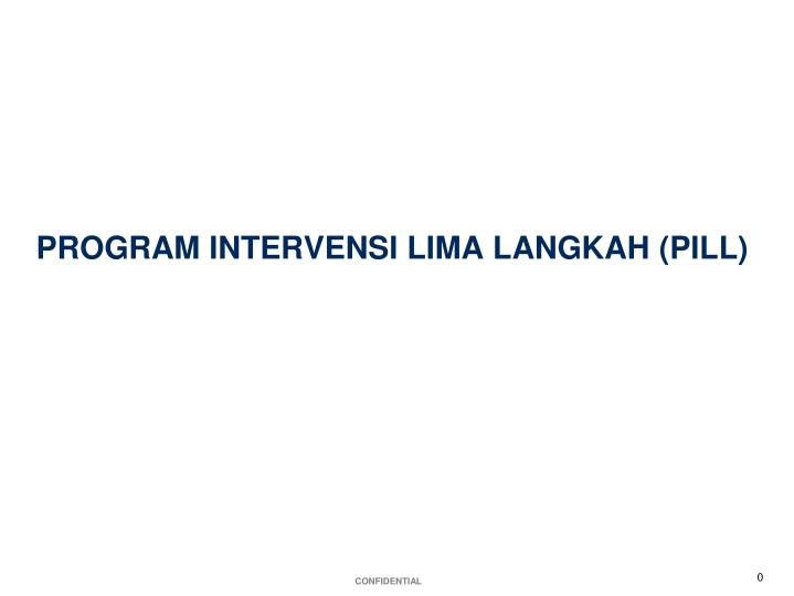 program intervensi lima langkah pill n.