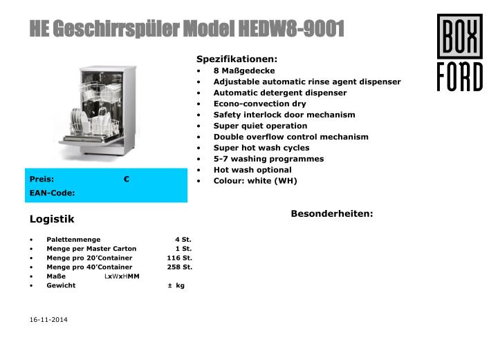 he geschirrsp ler model hedw8 9001 n.
