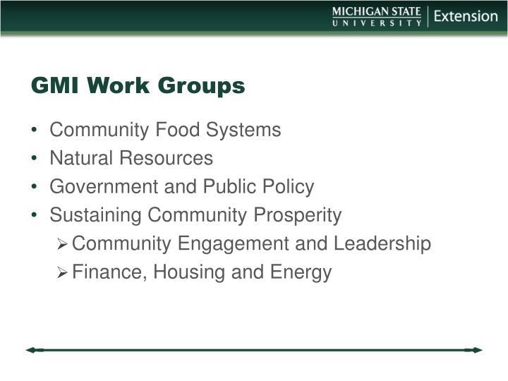 Gmi work groups