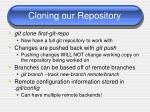cloning our repository