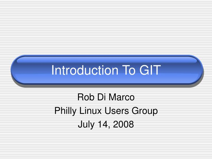 introduction to git n.