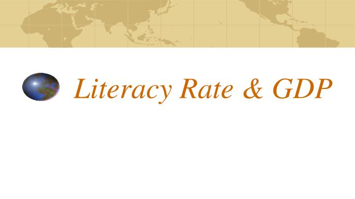 literacy rate gdp