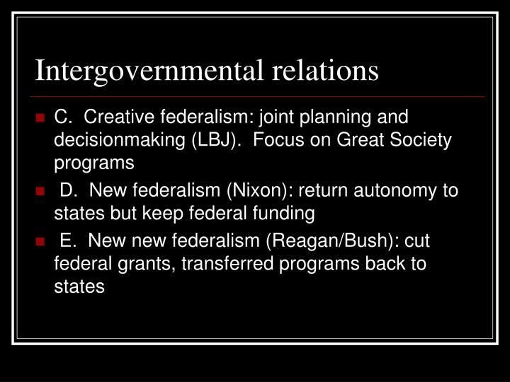 Intergovernmental relations1