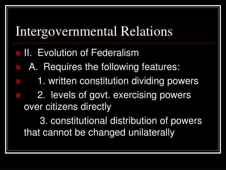 Intergovernmental relations2